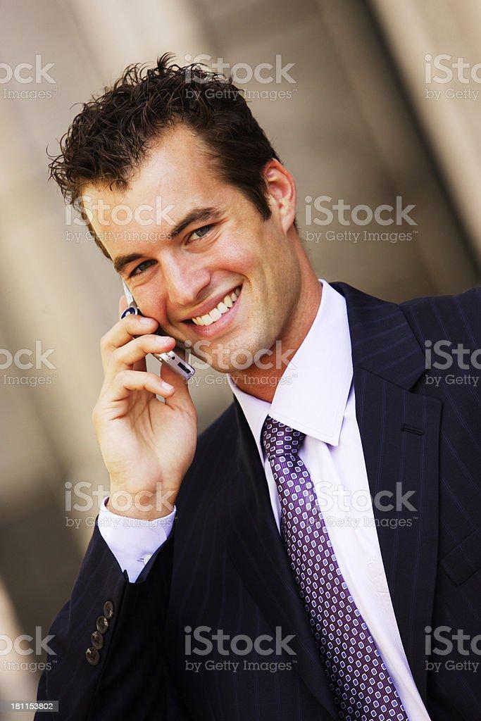 Businessman Cellphone III stock photo