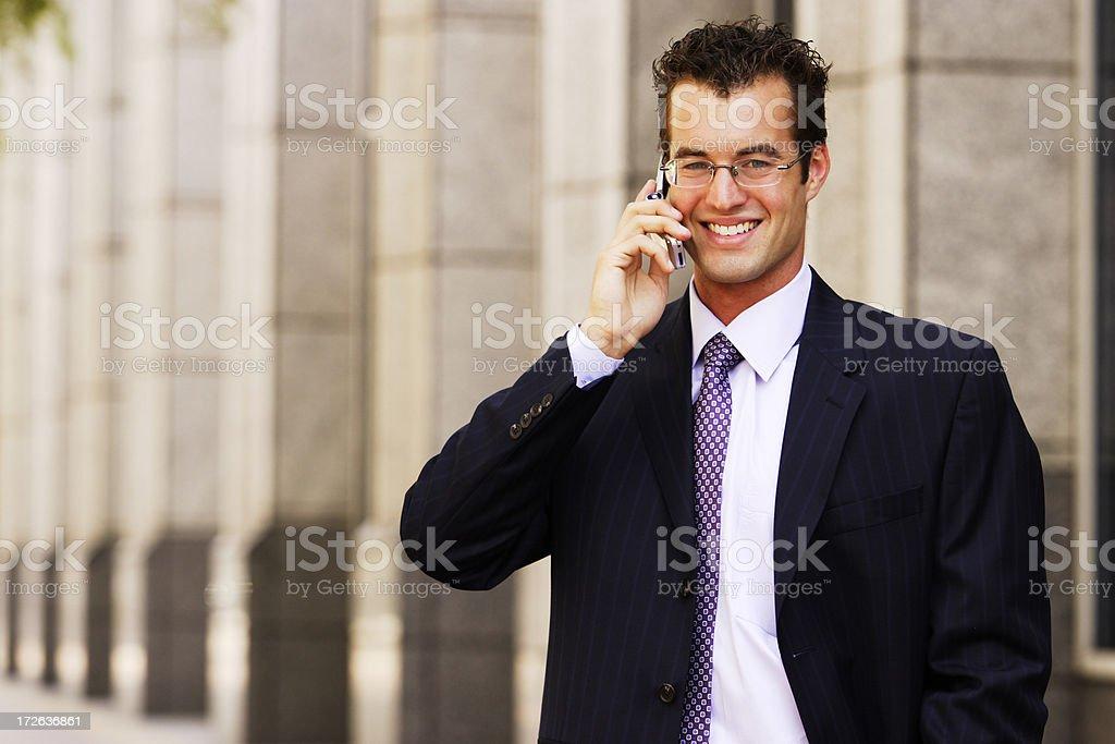 Businessman Cellphone stock photo