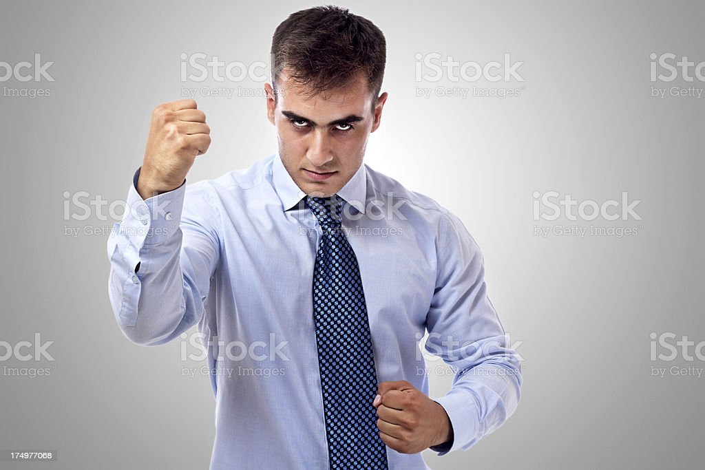 Businessman Challenge royalty-free stock photo