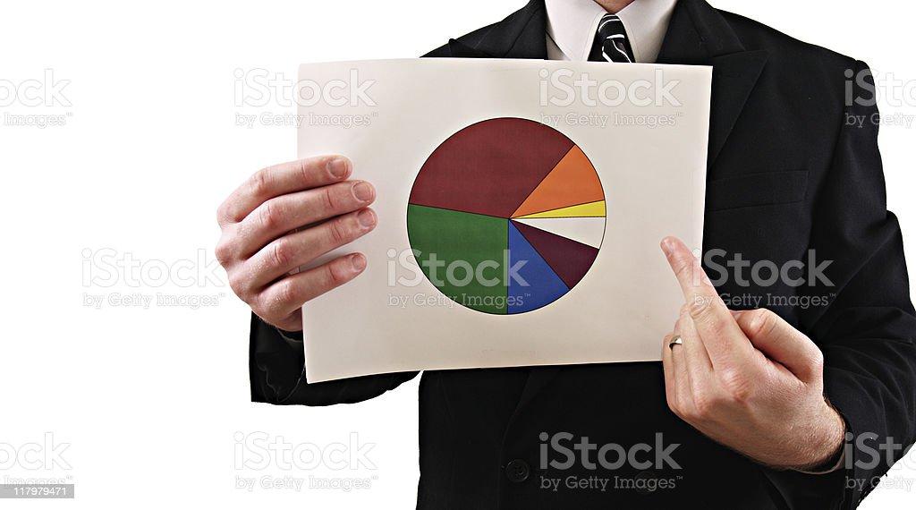 Businessman Chart royalty-free stock photo