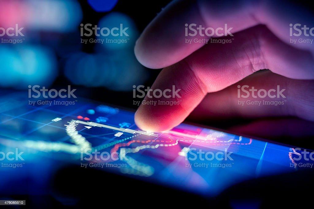 Businessman Checking Data stock photo