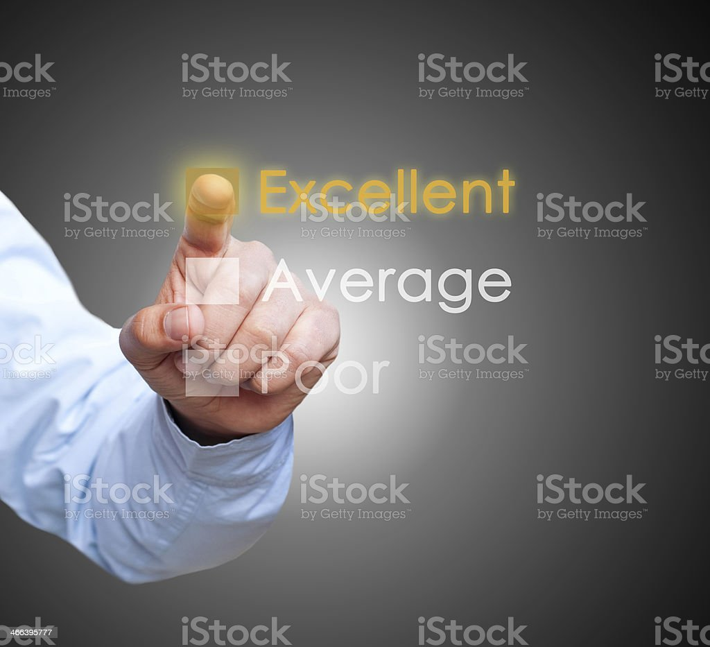 Businessman checking performance list on virtual screen royalty-free stock photo