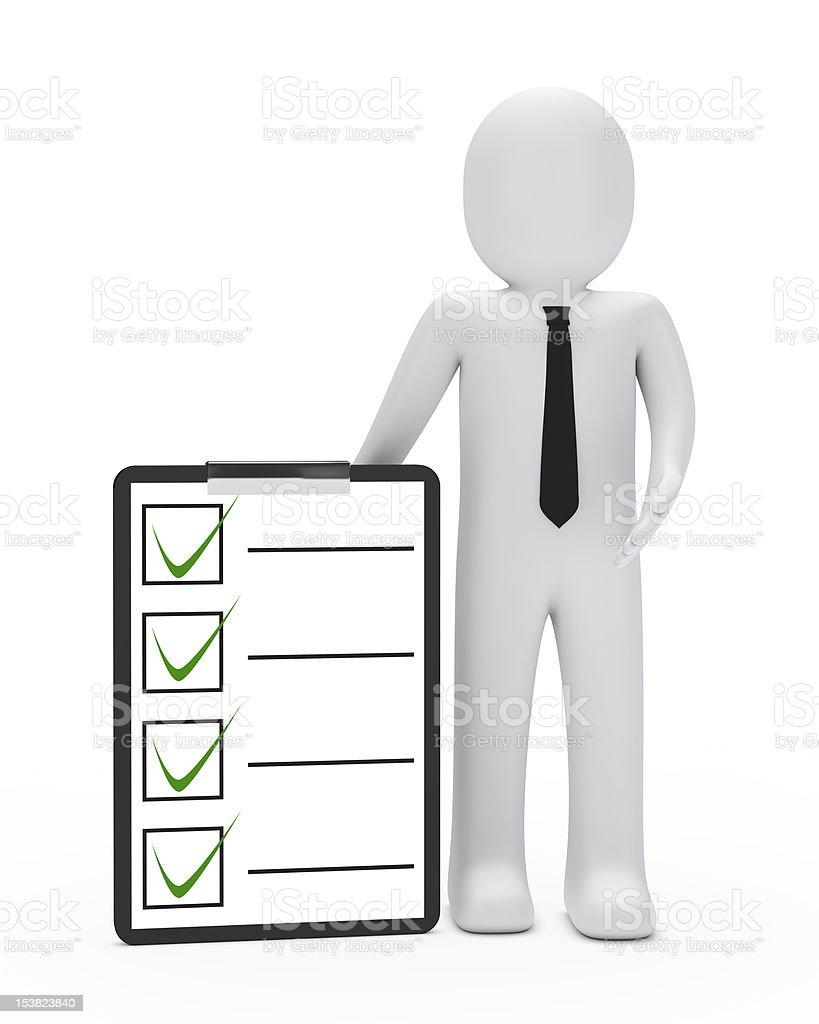 businessman checklist royalty-free stock photo