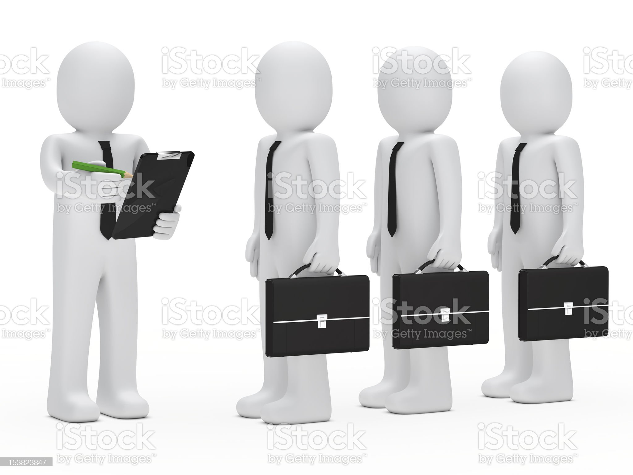 businessman checklist royalty-free stock photo