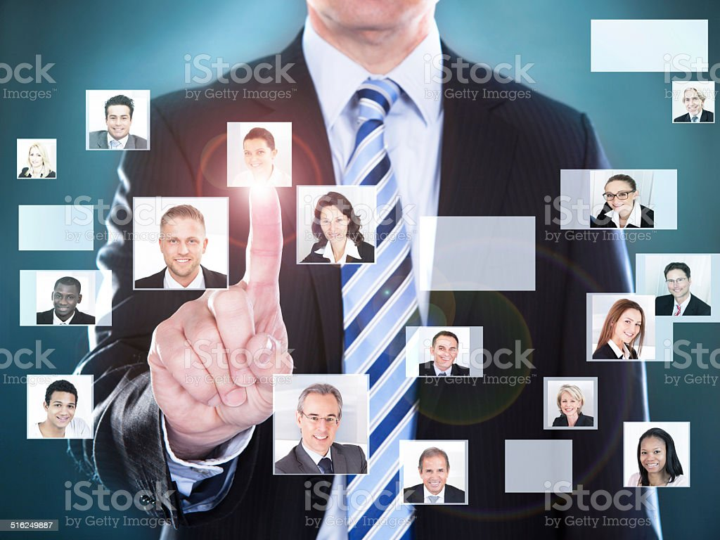 Businessman Choosing The Perfect Candidate For The Job stock photo