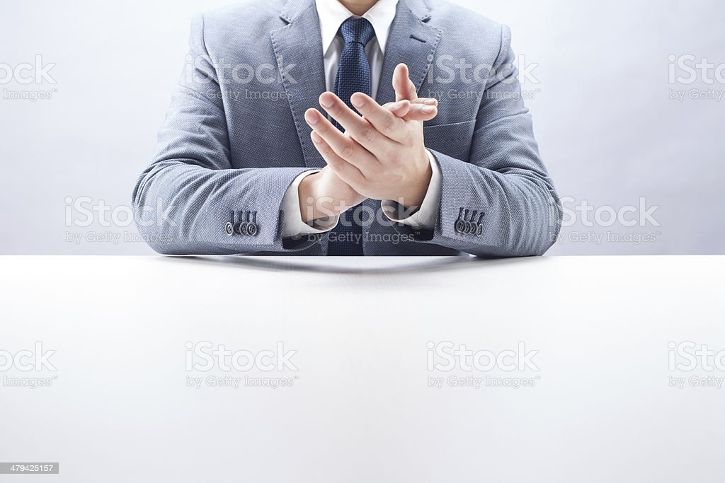 Businessman Clapping royalty-free stock photo
