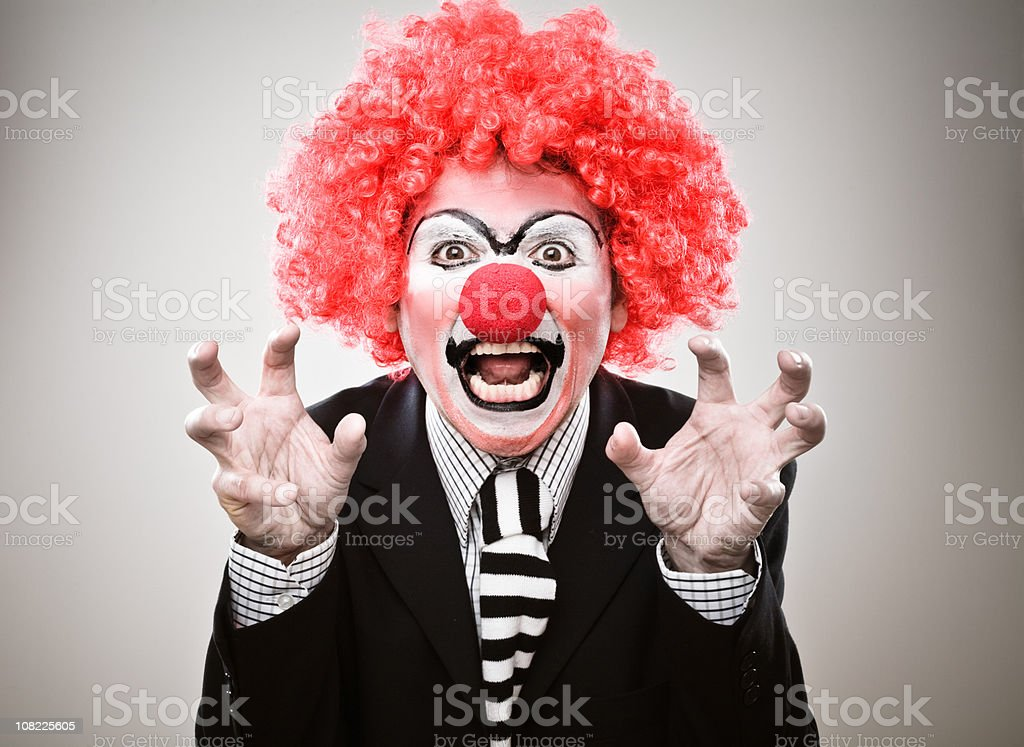 Businessman Clown Growling royalty-free stock photo