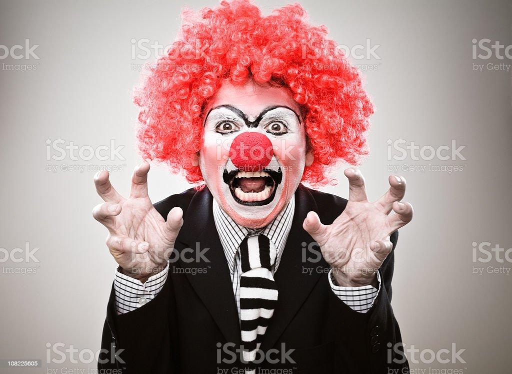 Businessman Clown Growling stock photo