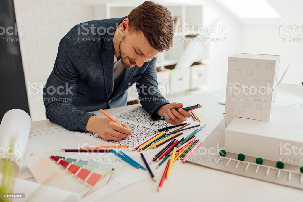 Businessman Coloring Book stock photo