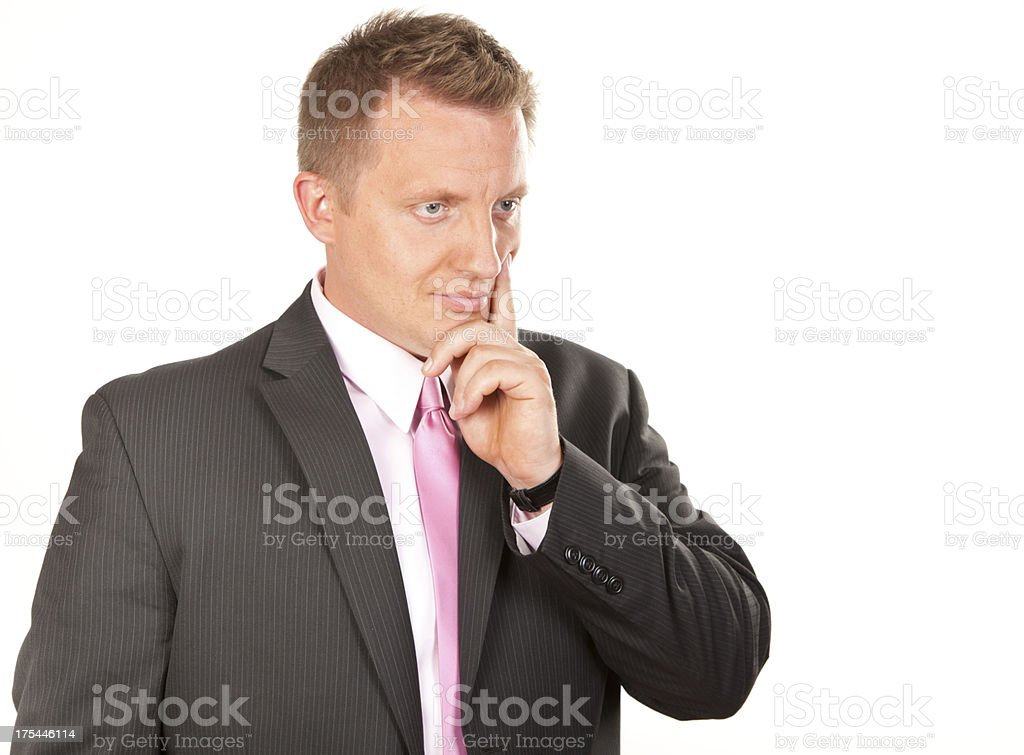 Businessman concerned stock photo