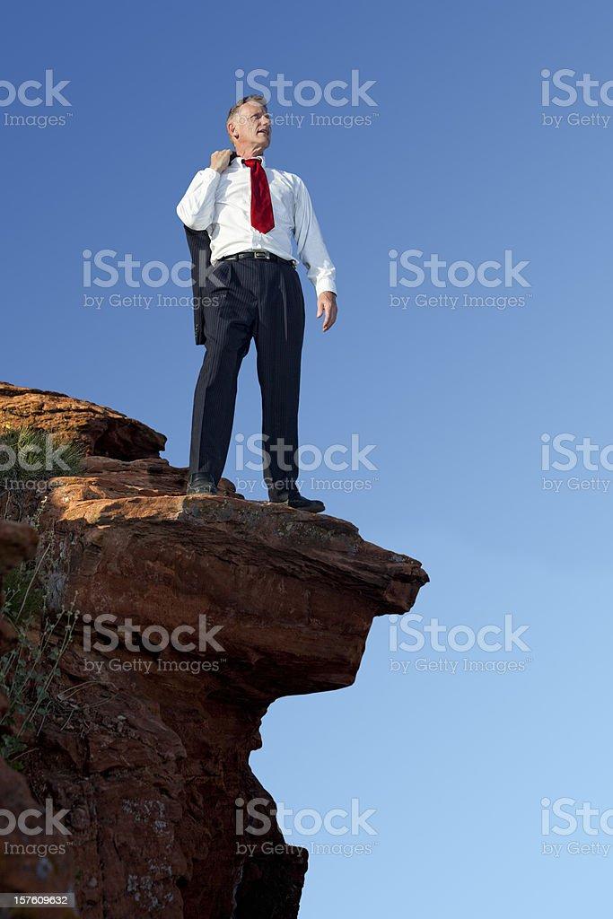 Businessman Confident About The Edge stock photo