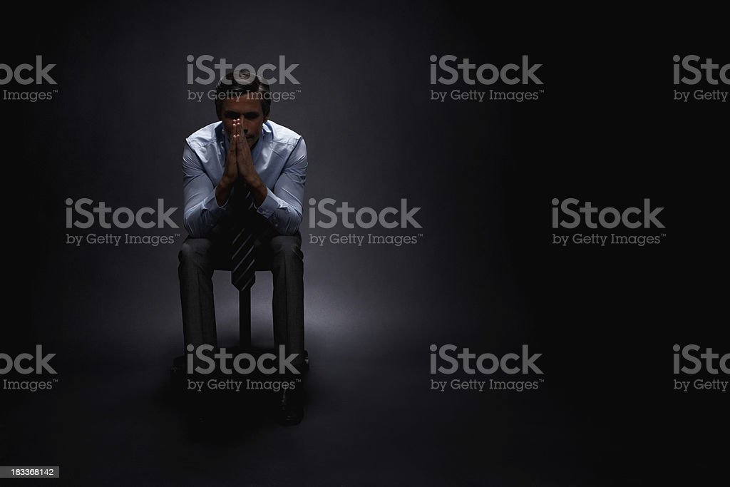 Businessman contemplating options royalty-free stock photo