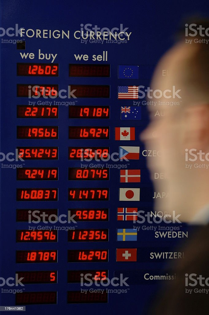 Businessman Currency Board royalty-free stock photo