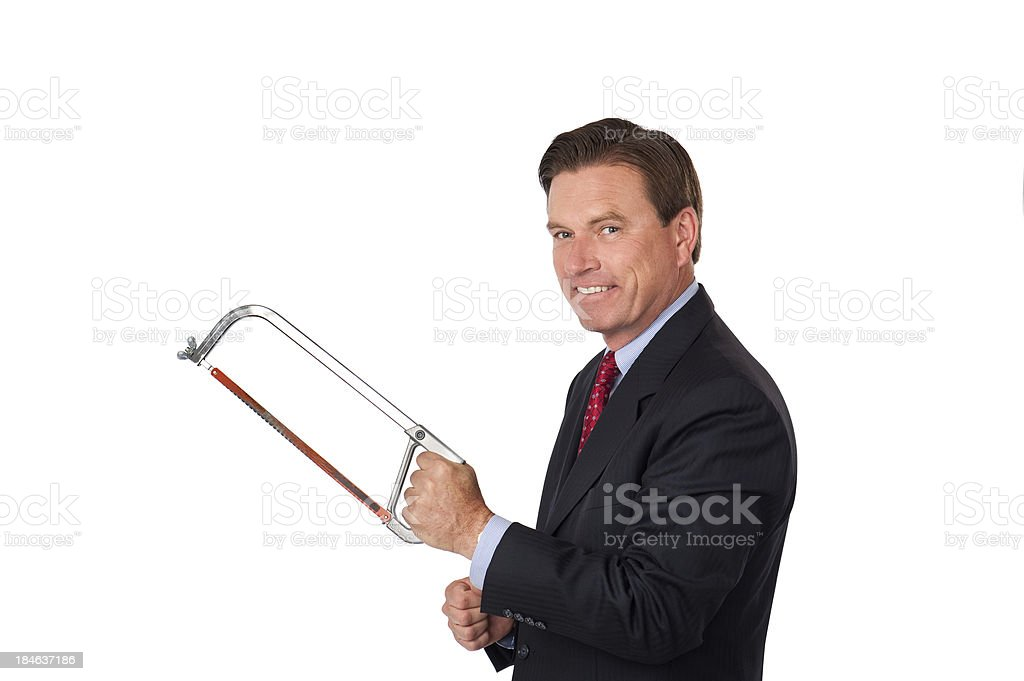 Businessman Cutting Costs stock photo