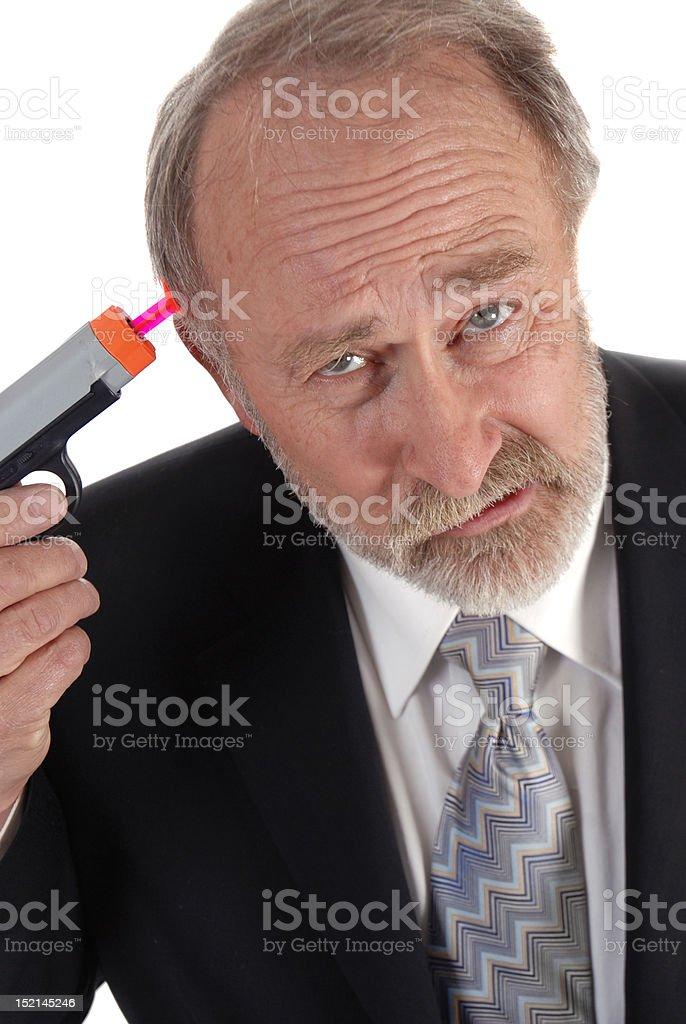 Businessman dart gun royalty-free stock photo