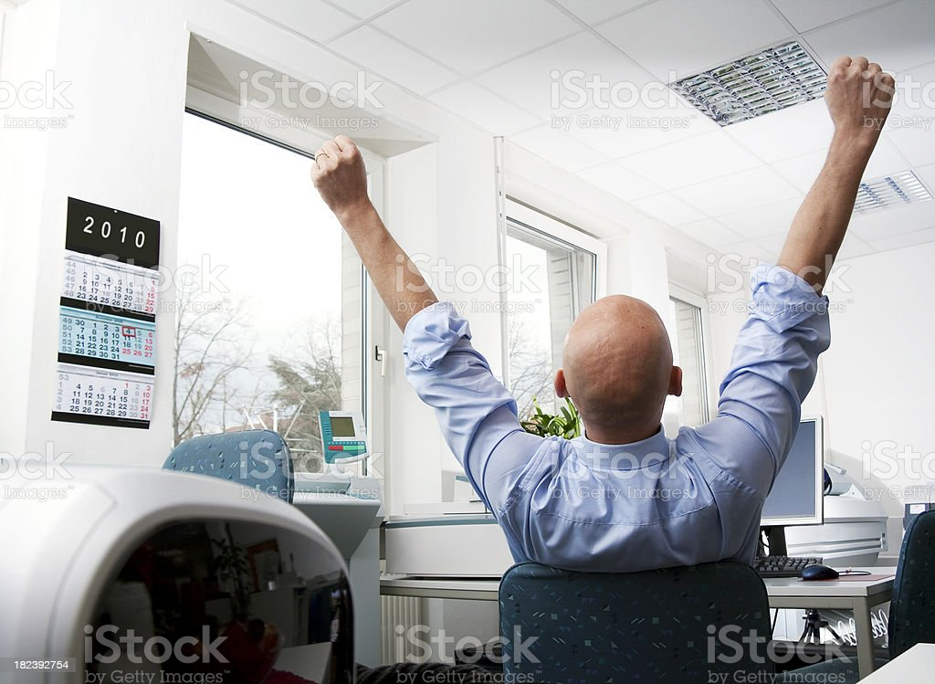 Businessman Day Dreaming stock photo