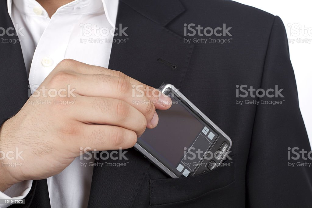 Businessman detail stock photo