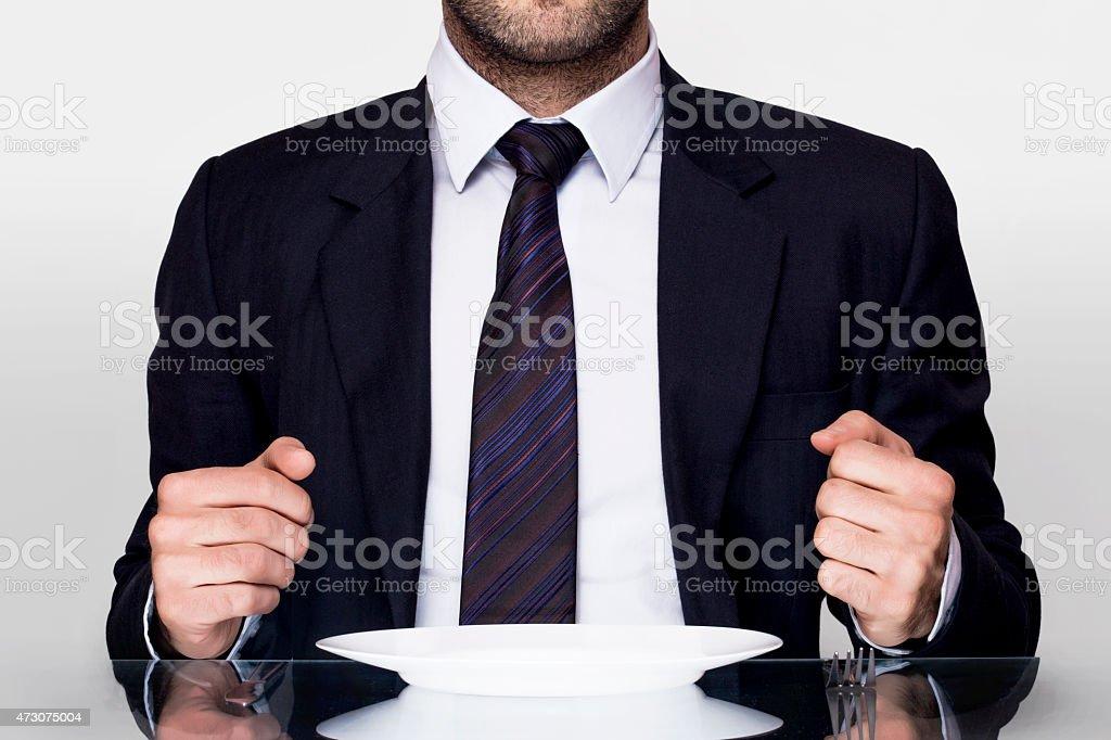 Businessman diet stock photo