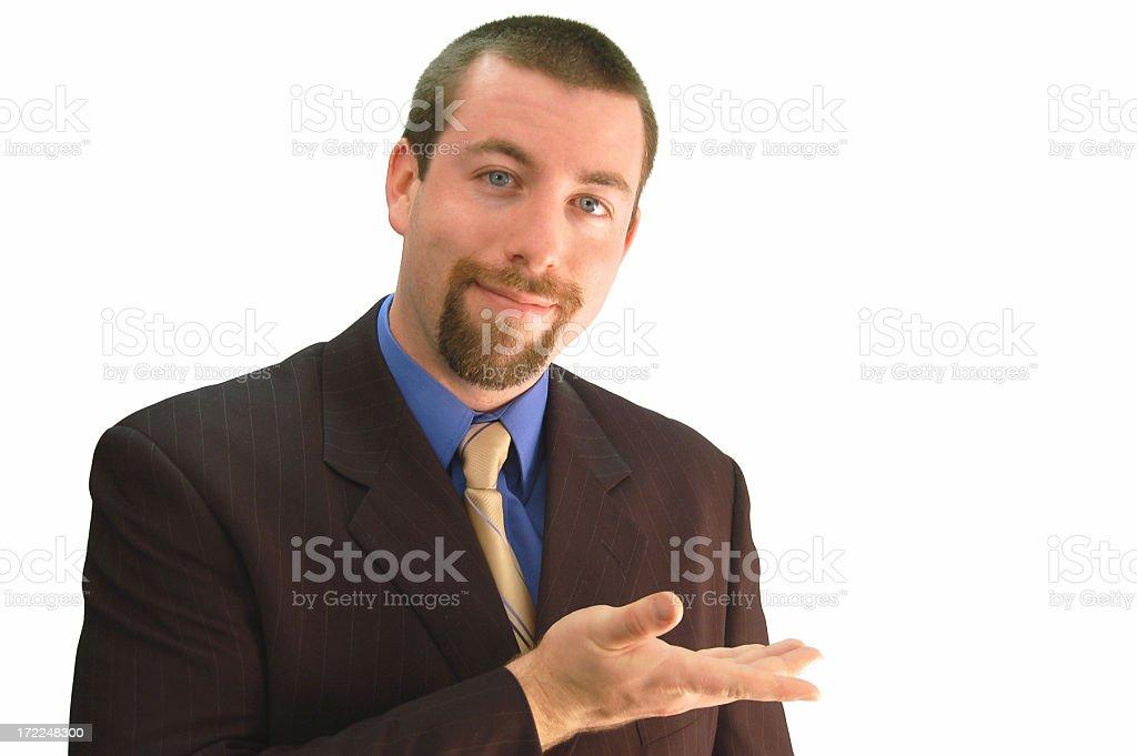 Businessman Displaying royalty-free stock photo