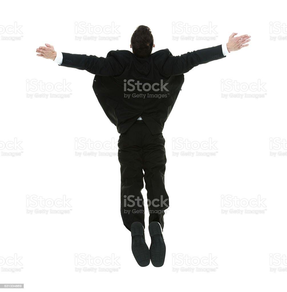 Businessman diving stock photo