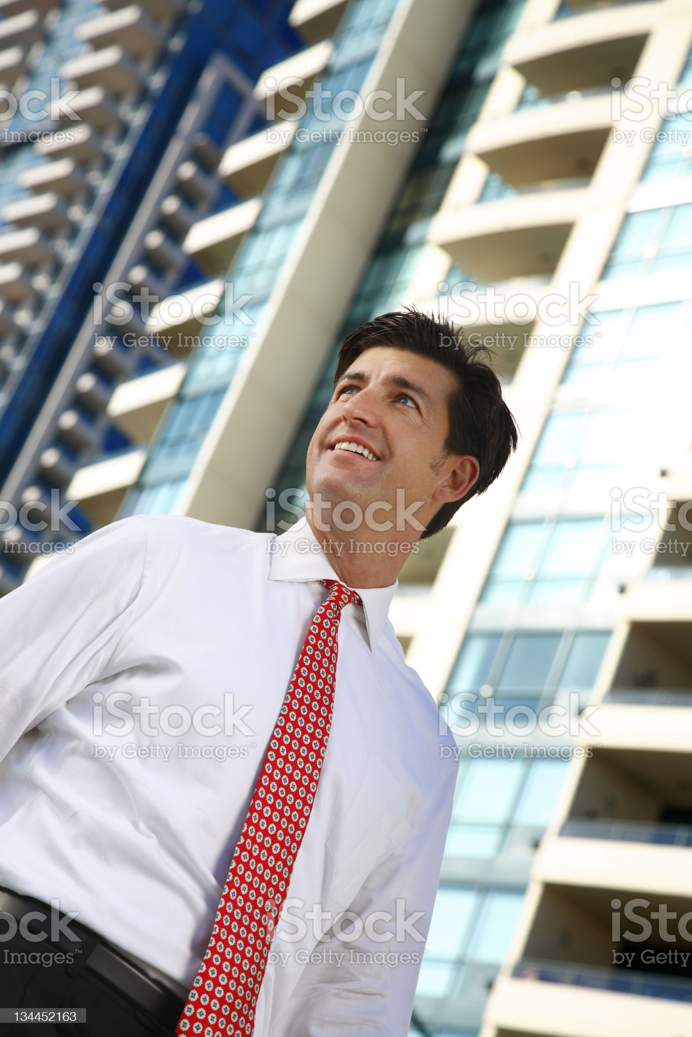 Businessman downtown royalty-free stock photo