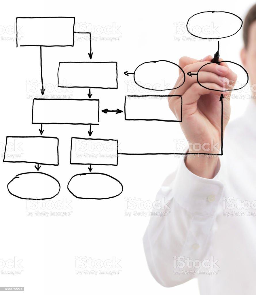 Businessman Drawing Diagram royalty-free stock photo