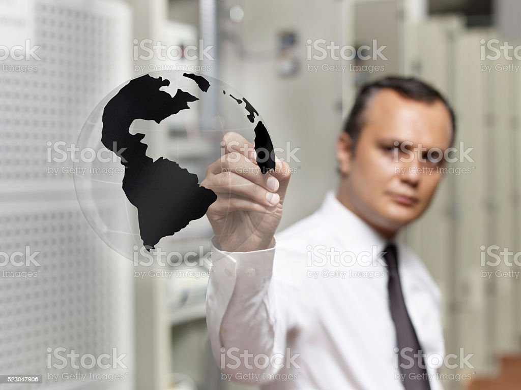 Businessman Drawing stock photo