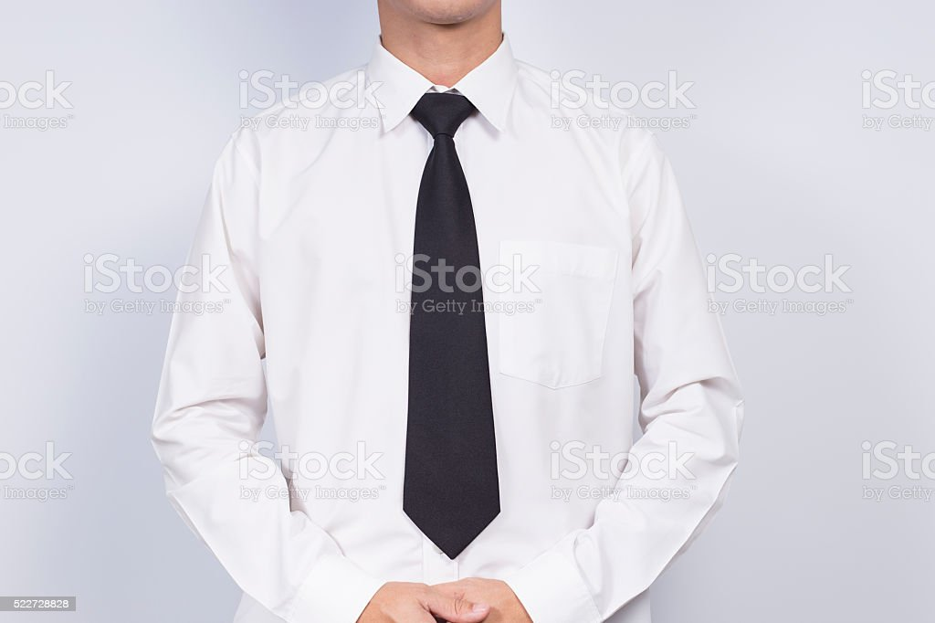 Businessman Dressing Up a White Shirt stock photo