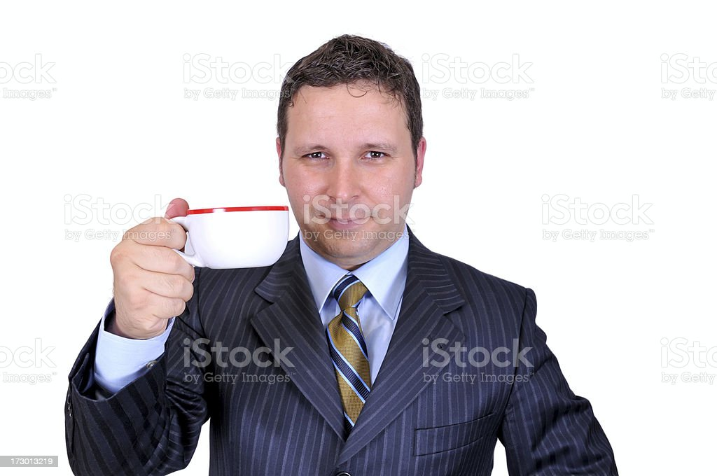businessman, drink of coffee royalty-free stock photo
