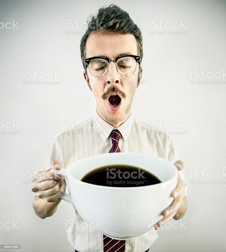 Businessman drinking cofffe stock photo