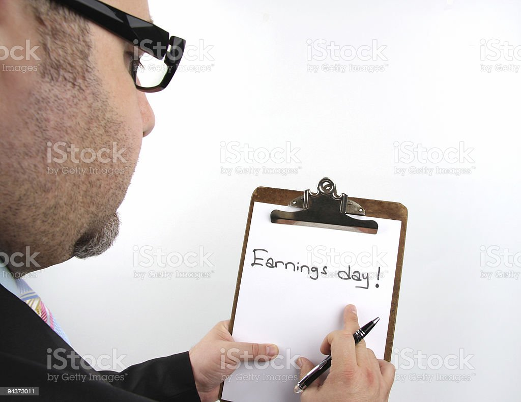 Businessman Earnings Day Series stock photo