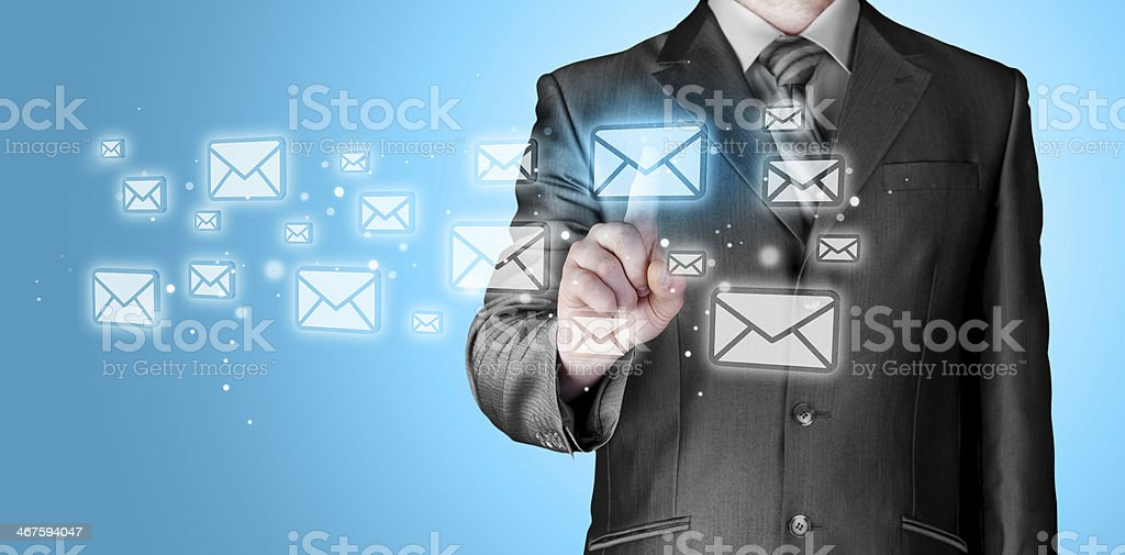 Businessman email concept royalty-free stock photo