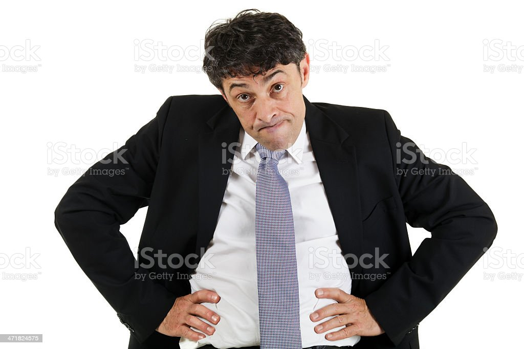 Businessman emphasising a point royalty-free stock photo