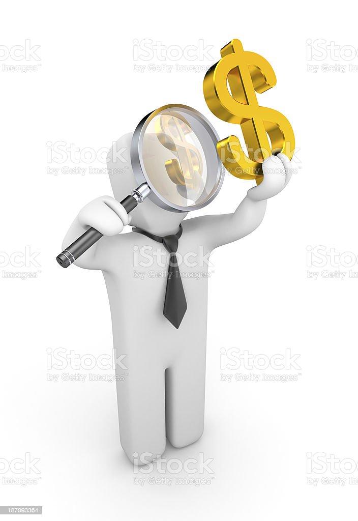 Businessman examines something royalty-free stock photo
