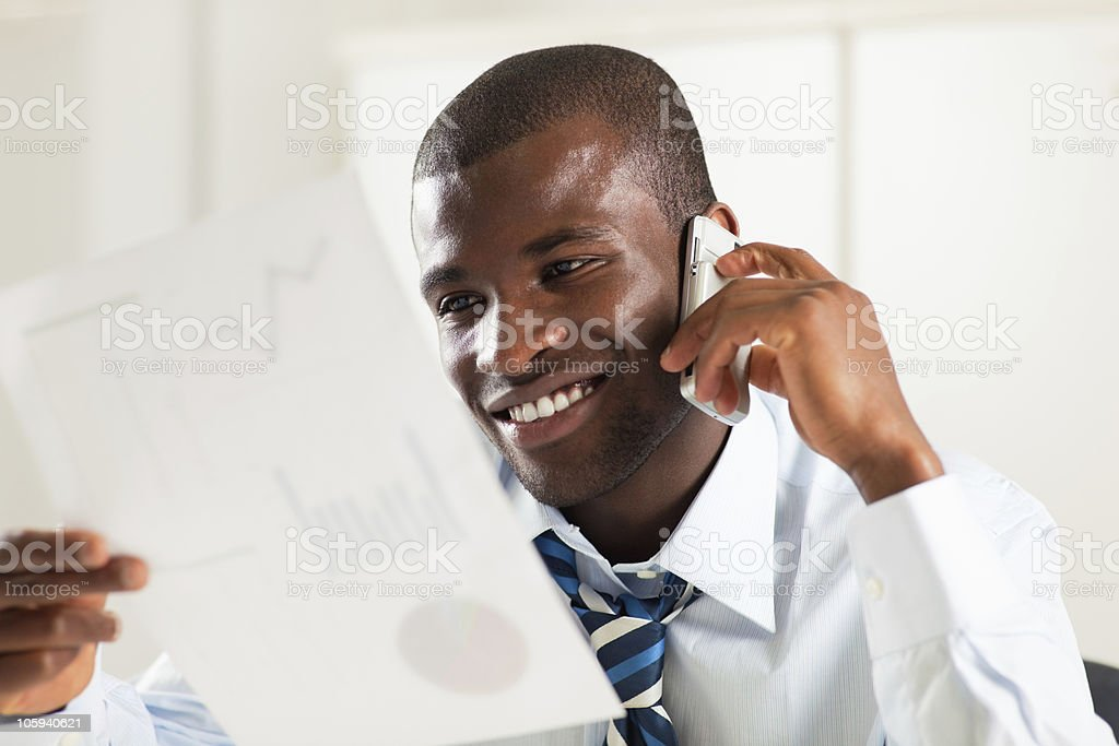 businessman examining documents royalty-free stock photo