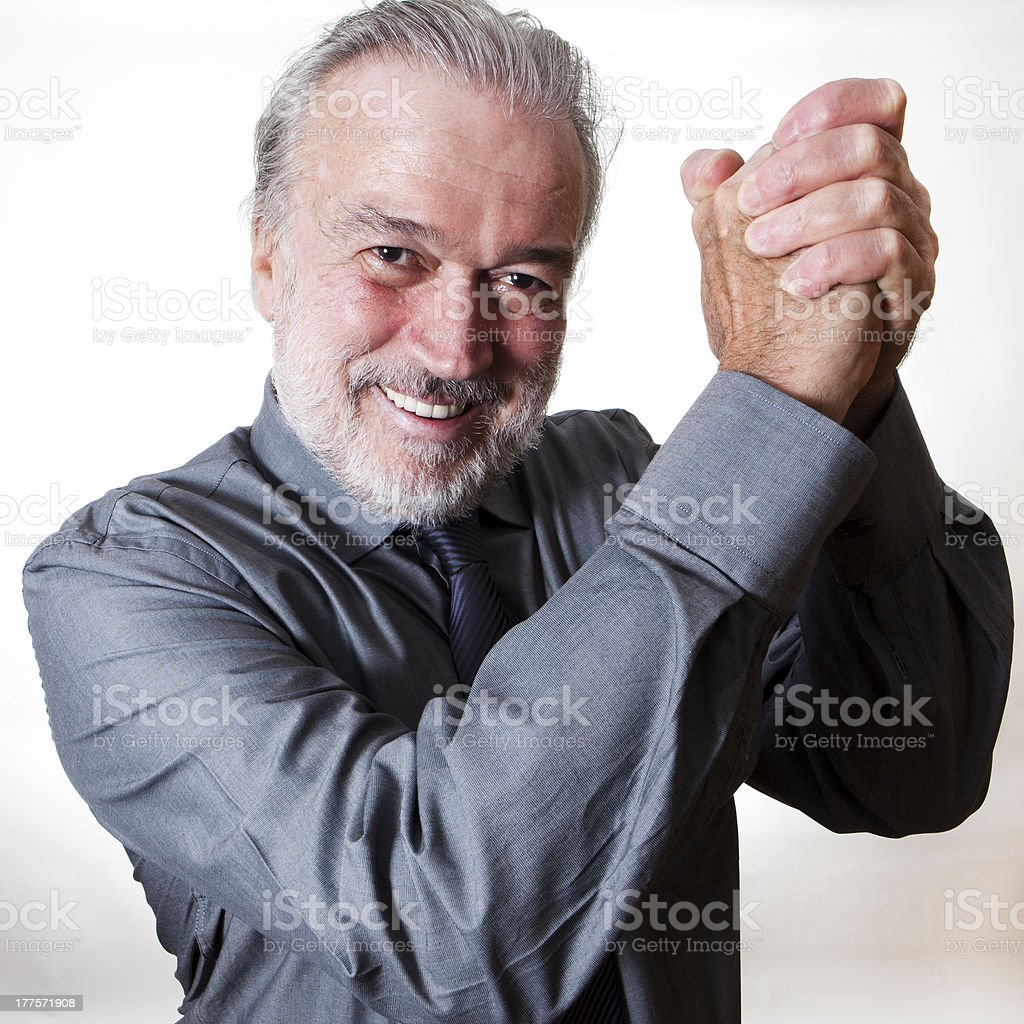 Businessman excited about his success royalty-free stock photo