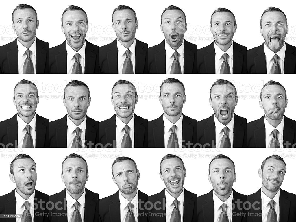 Businessman expressions royalty-free stock photo