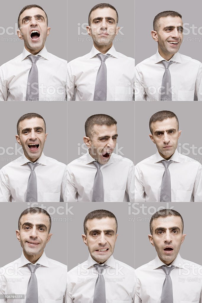 Businessman faces royalty-free stock photo