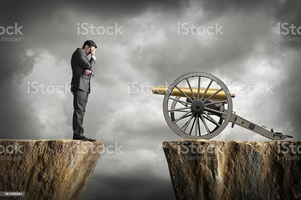 Businessman Facing Pressure royalty-free stock photo