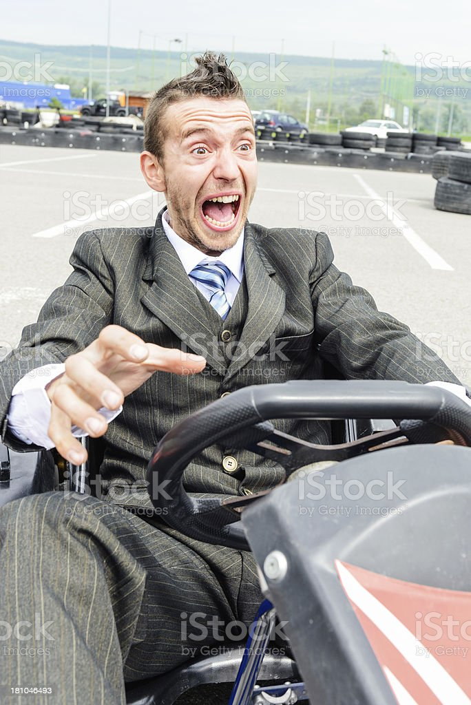 Businessman facing problems stock photo