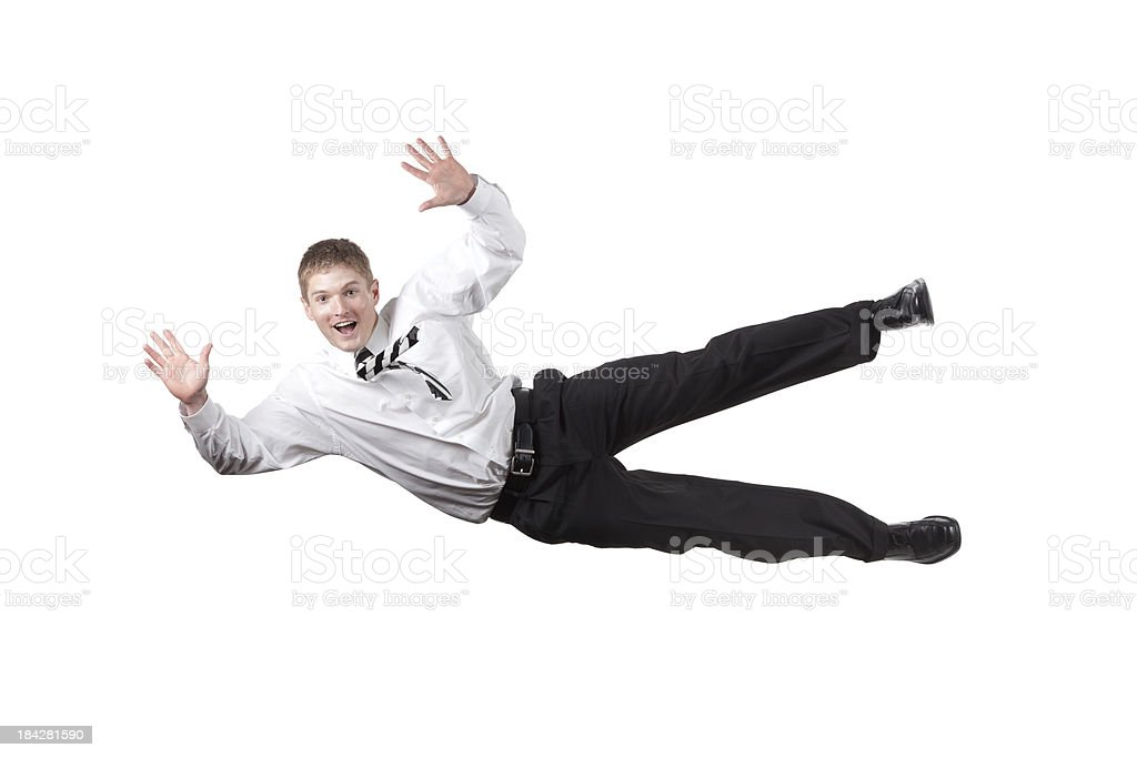 Businessman falling stock photo