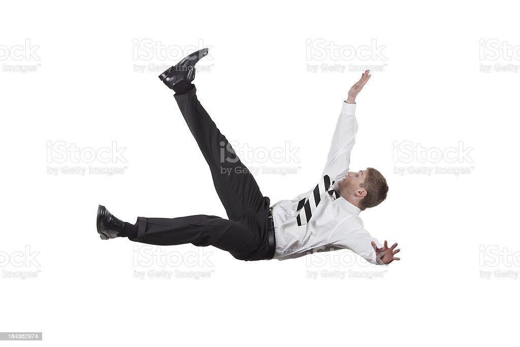 Businessman falling royalty-free stock photo