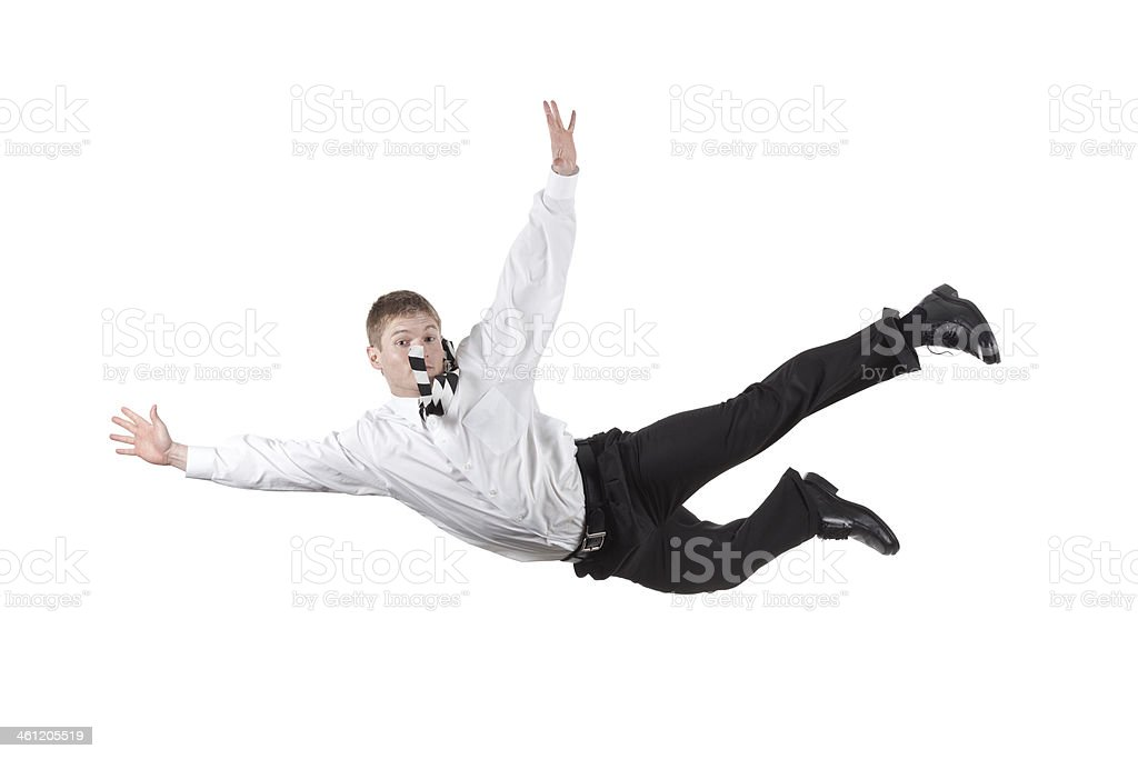 Businessman falling royalty-free stock photo