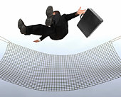 Businessman falling