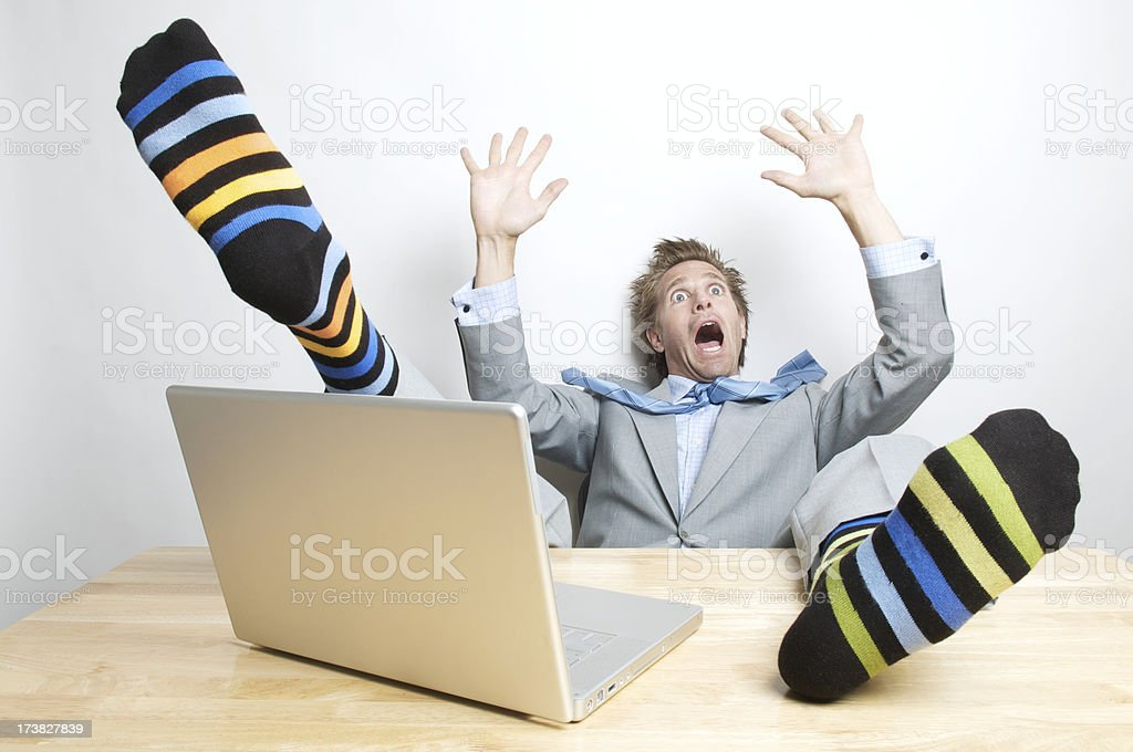 Businessman Falls Off His Chair royalty-free stock photo