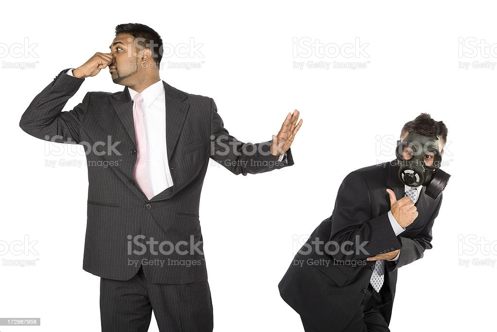 Businessman Farting royalty-free stock photo