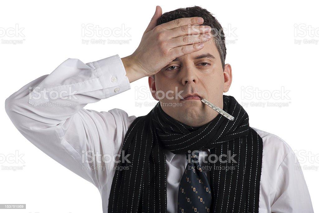 Businessman feeling ill royalty-free stock photo
