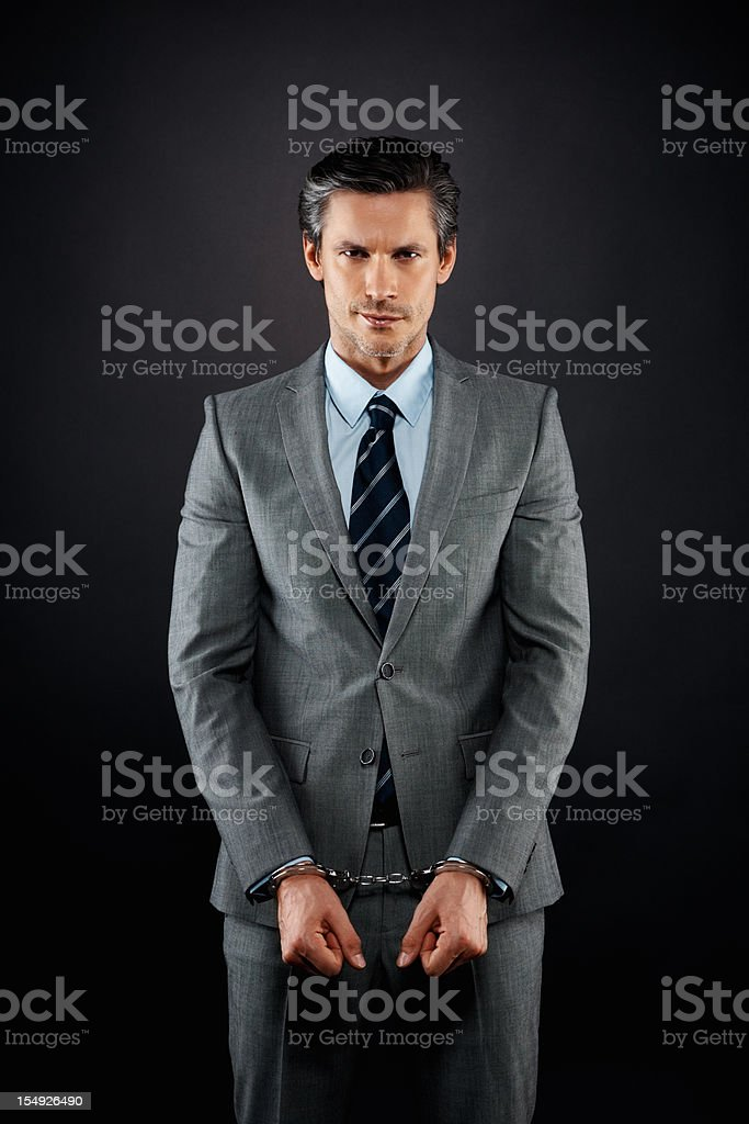 Businessman feeling trapped royalty-free stock photo