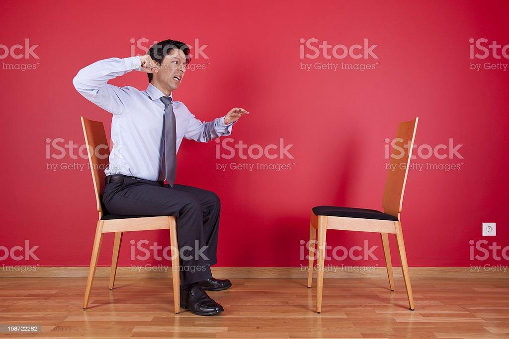businessman fighting stock photo
