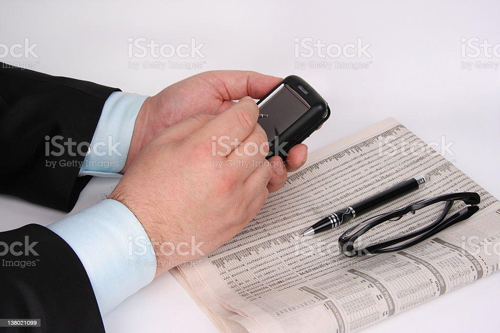 Businessman Finance News royalty-free stock photo